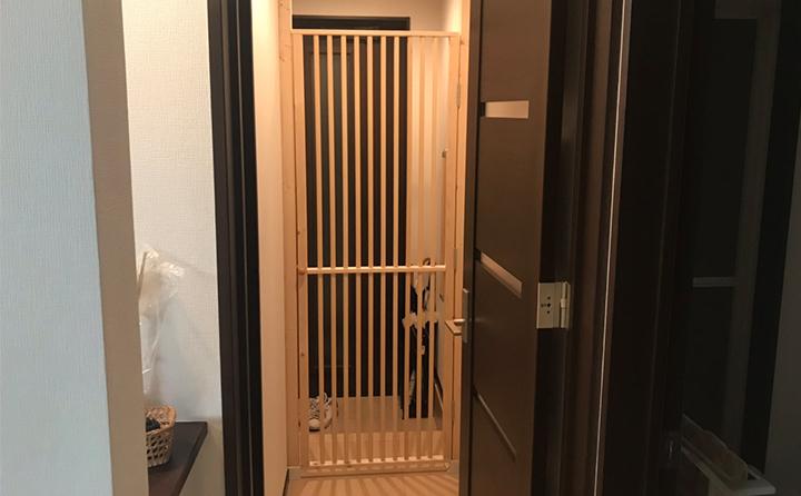猫の脱出防止扉